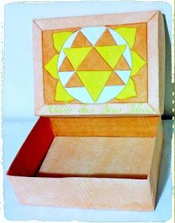 caixa de sapato reciclada