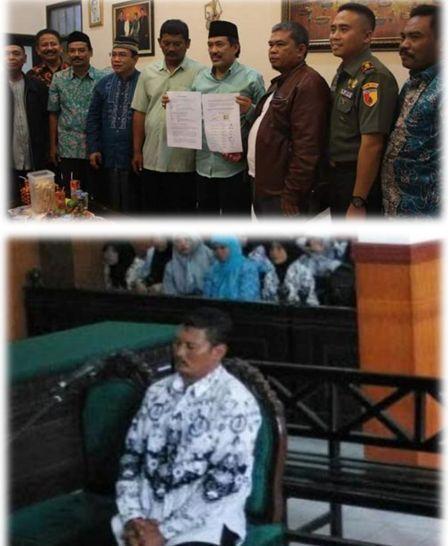 gambar kasus guru sahmudi cubit siswa