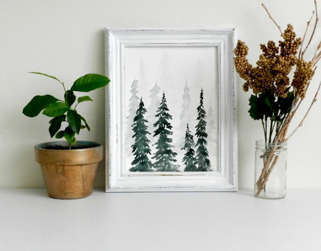 How to paint a winter watercolor forest scene with Elise Engh.