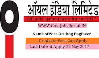 Oil India Limited Recruitment 2017– Drilling Engineer