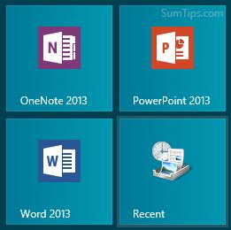 Recent Items Windows 8