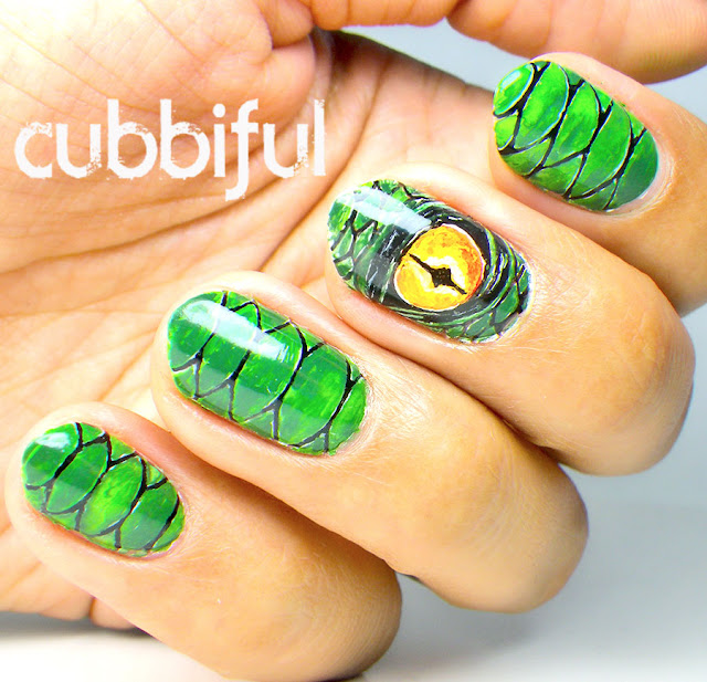Awesome Dragon Nail Art