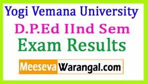 Yogi Vemana University D.P.Ed IInd Sem July 2016 Eamination Results