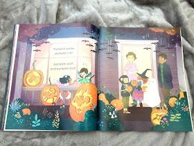 illistrations inside the child hallowen book