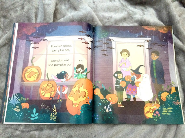 illistrations inside the child hallowen book