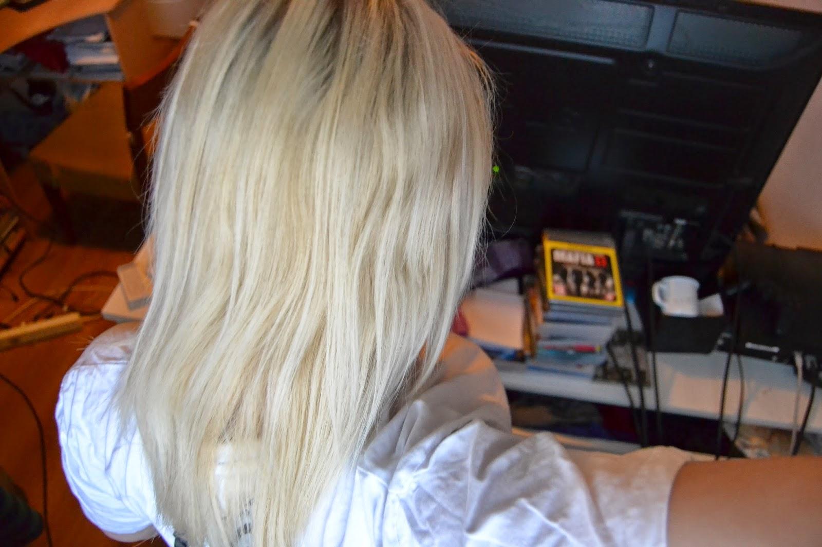 kellertävät hiukset pois