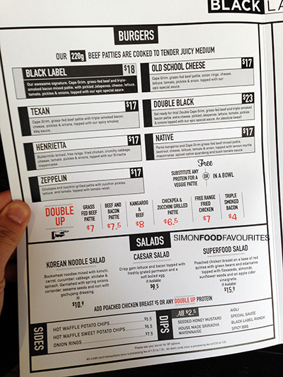 Black Label Burger Menu : black, label, burger, Black, Label, Burger, Design, Ideas