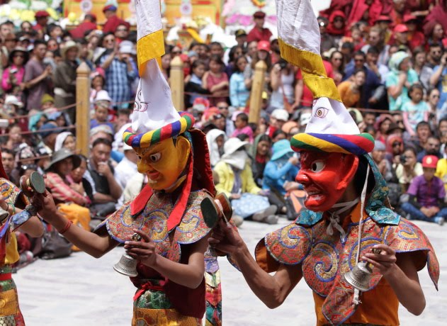 The masked dancing monks of Hemis Monastery, Ladakh