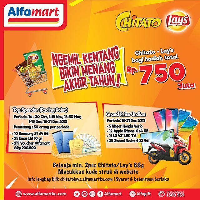 Alfamart - Promo Kuis Ngemil Kentang Menang 750 Juta (s.d 31 Des 2018)
