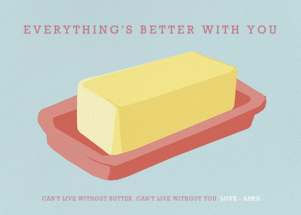 Food-Themed Valentine's Day Cards -- Better with Butter | Paperless Post