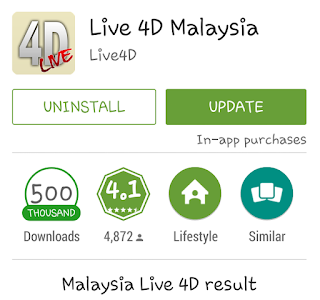 Live 4D Result  on Android