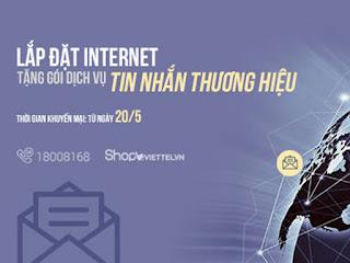Viettel khuyến mãi dịch vụ tin nhắn thương hiệu SMS Brandname khi lắp đặt Internet Viettel 1
