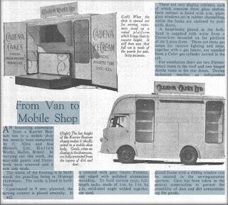C Allen and Son from Van to Mobile Shop - Commercial Motor 10 August 1951