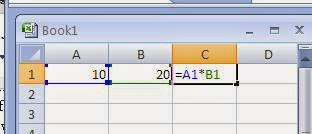 Use of multiplication arithmetic operator in Excel