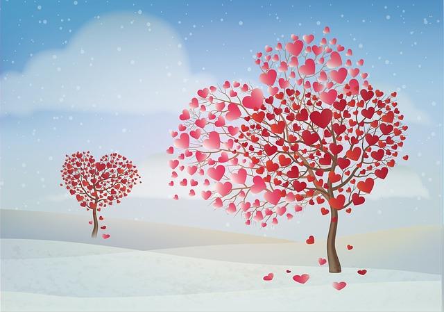 Gambar romantis pohon cinta