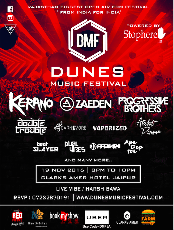 Free Passes for Dunes Music Festival in Jaipur