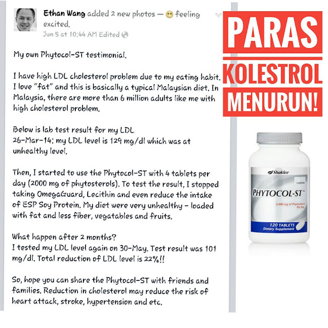 testimoni phytocol st shaklee