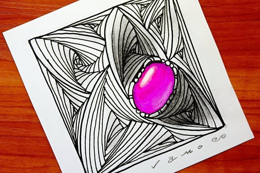 09-Zentangle-Pearl-3D-Art-Sandor-Vamos-www-designstack-co