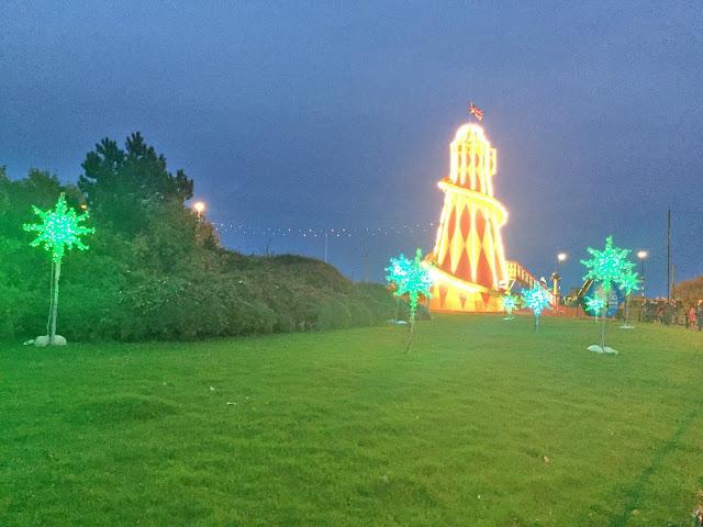 lit up helter skelter ride at Sunderland illumination
