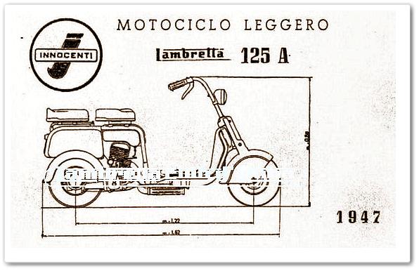 Desain Asli Pertama Lambretta 125 A Tahun 1947