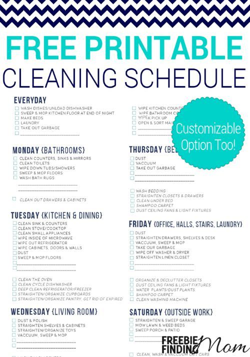 The Feminine Gift Lost Domestic Arts Cleaning Schedule