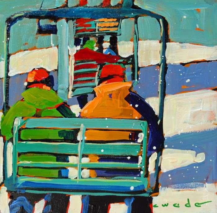 Сильные и красочные картины. Carole Wade