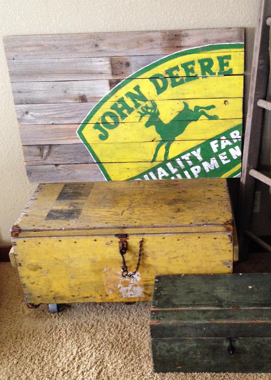 John Deere Sign On Reclaimed Wood Averie Lane John