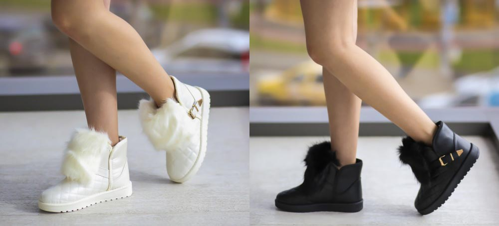 Cizme UGG la moda cu blanita ieftine negre, albe