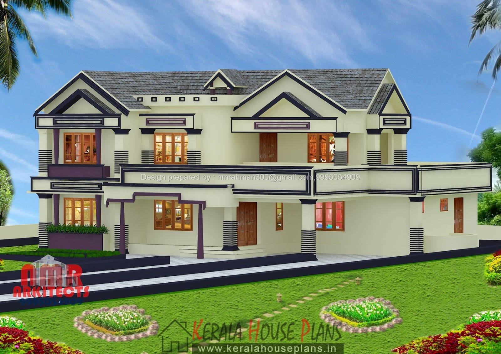 Kerala house plans above 3000 sq ft kerala house plans for Home designs 3000 square feet