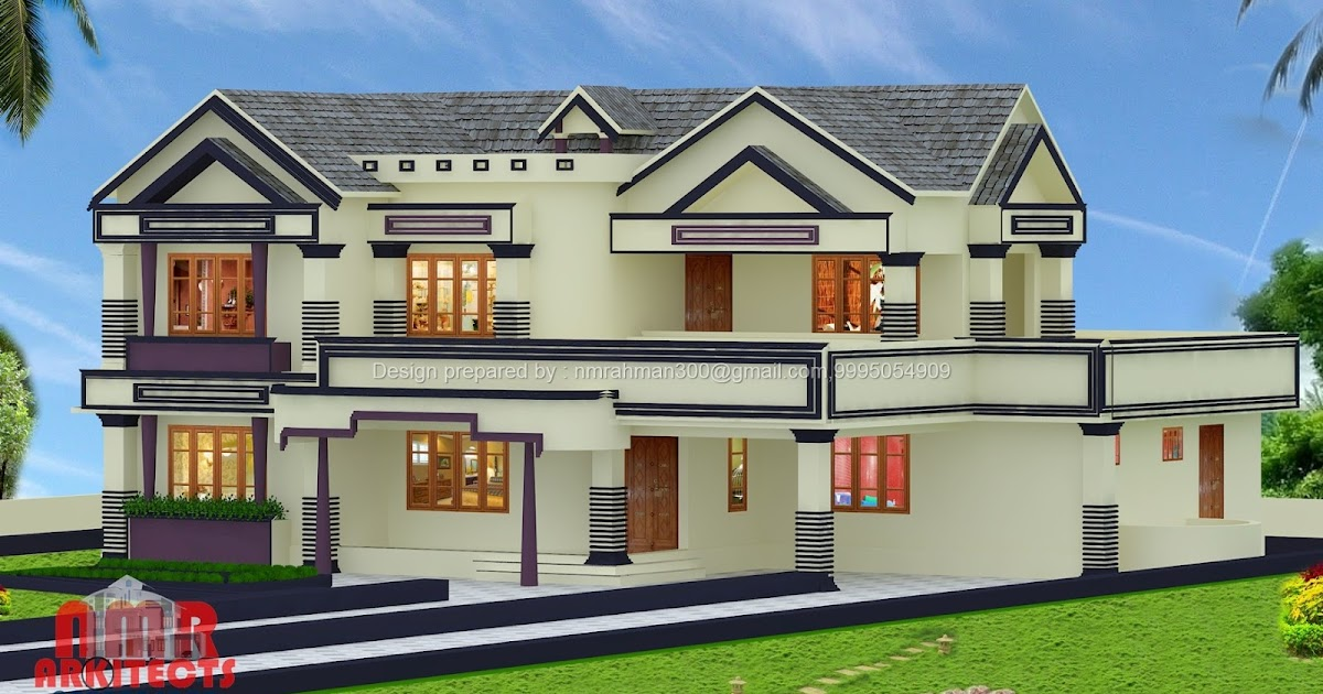 Home Design House Plans Above 3000 Sq Ft Kerala House
