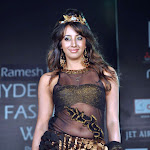 Sanjana Telugu Actress in Cat Walk on Ramp in Hyderabad Stills