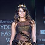 Sanjana Telugu Actress in Cat Walk on Ramp in Hyderabad Stills