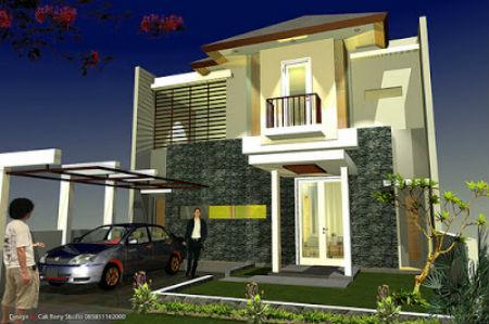 gambar desain rumah minimalis modern 1 & 2 lantai