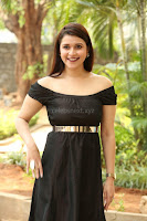 Mannara Chopra in Short Off Shoulder Black Dress ~  Exclusive 045.JPG