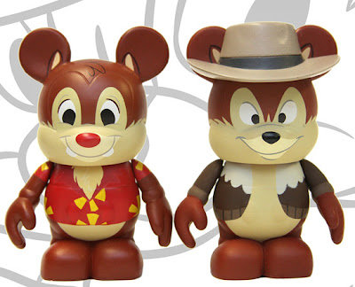 Chip 'N Dale Rescue Rangers Disney Afternoon Vinylmation 2 Pack - Chip & Dale Vinyl Figures