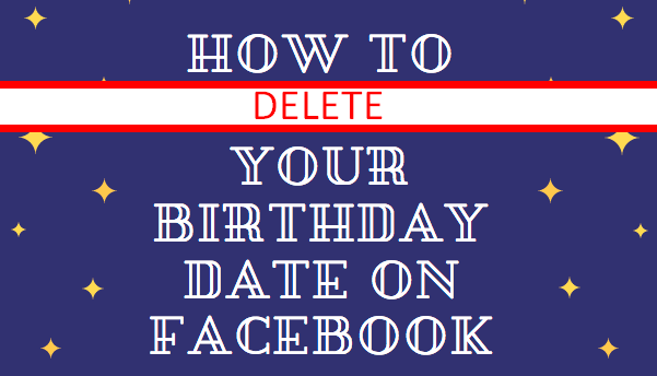 How To Remove Birth Year From Facebook Profile