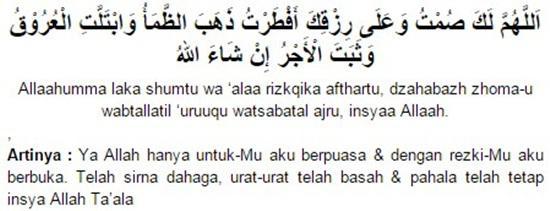 Doa Berbuka Puasa Sunnah Kamis