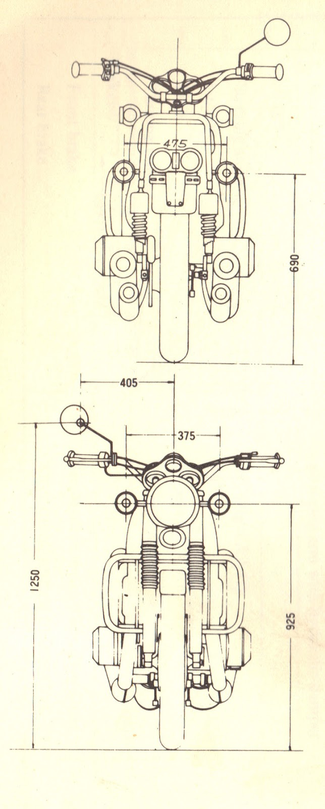 Progress Is Fine But Its Gone On For Too Long January 2013 Dim Engine Diagram From The 1972 Suzuki Water Buffalo Manual That One Wide Motor And They Ignored Fact In Dimensioning Locating Center Of Mirror