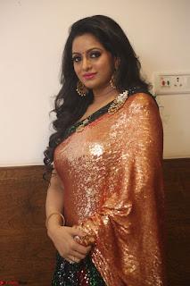 Udaya Bhanu lookssizzling in a Saree Choli at Gautam Nanda music launchi ~ Exclusive Celebrities Galleries 135.JPG