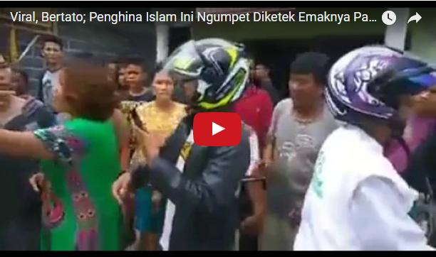 [video] Viral, Bertato; Penghina Islam Ini Ngumpet Diketek Emaknya Pas Disambangi Moslem Cyber Army