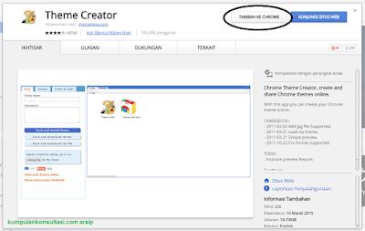 Cara Mudah Buat Sendiri Tema Google Chrome Anda