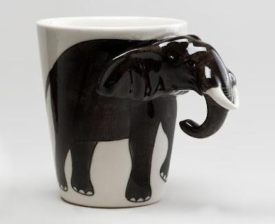 Diseño industrial de taza elefante