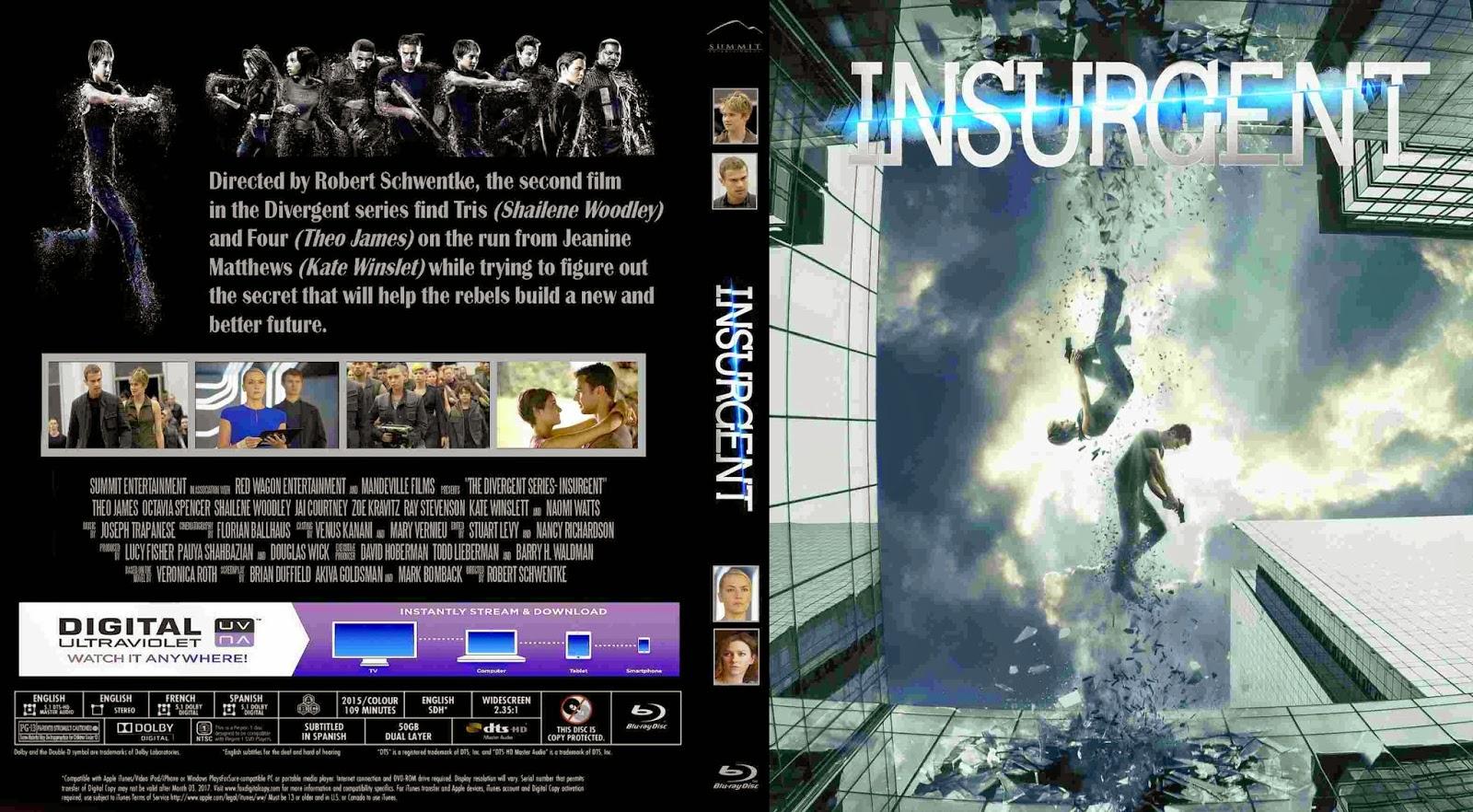 Tudo Gtba: Insurgent (2015) - Cover Blu-Ray Movie