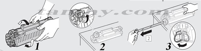 Hướng dẫn Cách thay mực máy in Canon MF211 / MF212W / MF221d tại nhà đơn giản.