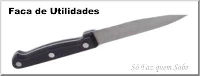Foto de uma Faca de Utilidades que em inglês denomina-se Utility Knife