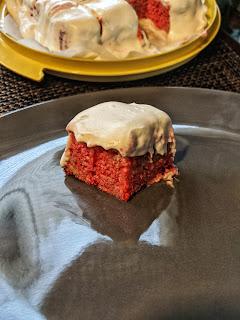 Low carb cake swerve Vanilla cherry poke cake