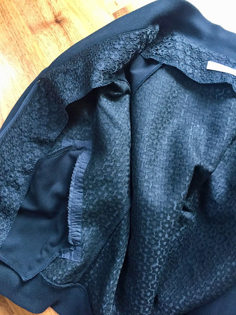 Diary of a Chain Stitcher: Black Textured Rigel Bomber from Papercut Patterns