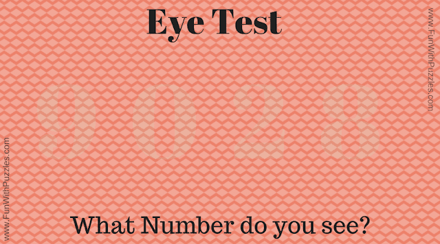 Easy eye test puzzle to read hidden number