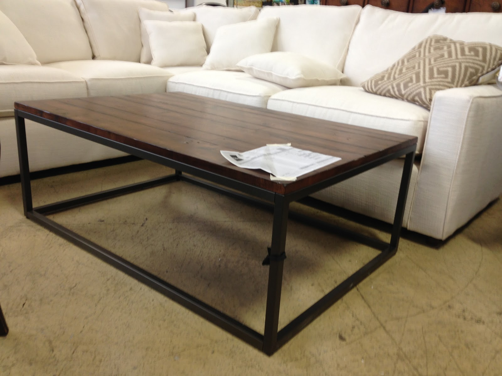 Interior groupie living room chair and coffee table - Brickmakers coffee table living room ...