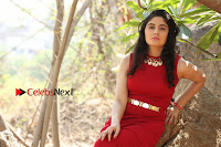 Telugu Actress Zahida Sam Latest Pos in Red Gown at RF Films New Movie Opening  0271.JPG